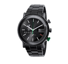 3877ea173 New Gucci G-Chrono Chronograph All Black PVD Stainless Steel YA101331 Mens  Watch