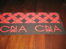 CNA Sport Neck Scarf in Red & Black Acrylic & Wool Gently Used