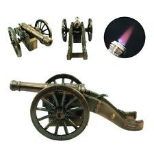 9x4cm Windproof Cigarette Lighter Cannon Refillable Jet Flame Butane Torch Gold