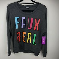 NEW Rampage Womens Faux Real Sweatshirt Size Small (S)