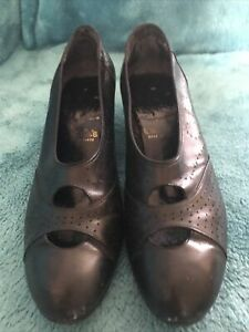 1930s Original Size 5 Shoes In Blue leather