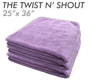 THE RAG COMPANY TWIST N' SHOUT TWISTED LOOP DRYING TOWEL 25 X 36 - PURPLE
