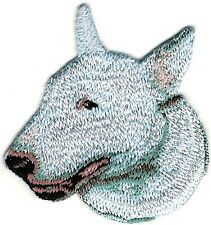 "2"" x 2 1/8"" Bull Terrier Dog Breed Portrait Embroidery Patch"