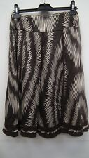 Brown and Biege  Cotton Patterned Skirt from Principles size 10
