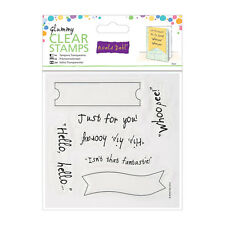 GLUMMY - HELLO HELLO : ROALD DAHL / DOCRAFTS : CLEAR STAMP SET