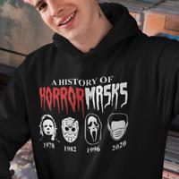 A History of Horror Masks Halloween Corona Fun Kapuzenpullover Hoodie Sweatshirt