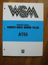 Kubota At55 At 55 Walk Behind Tiller Workshop Service Manual