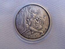 1 oz. CERNUNNOS - #4 Celtic Lore numbered antiqued rounds .999 fine silver