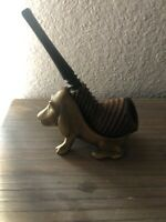 Vintage Hound Dog Tobacco Pipe Holder Stand &  Vintage Estate Pipe