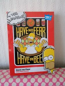 """The Simpsons 1000piece jigsaw puzzle brand new """"have no fear"""""""