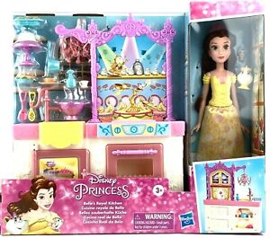 Disney Princess Belle's Royal Kitchen, Doll and Playset, 13 Accessories NEW
