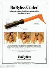 PUBLICITE ADVERTISING 016  1978   la brosse ronde CURLER de Babyliss