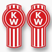2X KENWORTH RED LOGO DECAL STICKER US MADE TRUCK VEHICLE CAR WINDOW RIG 18 WHEEL