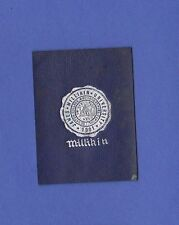 c1910s L21 tobacco / cigarette leather Milikin University seal #1