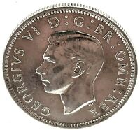 Great Britain 1946  Silver One Shilling King George VI Coin KM#853