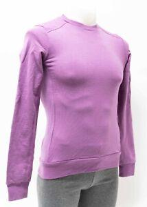 Rapha Merino Sweatshirt Men XS Purple Cycling Casual Lifestyle Wool Long Sleeve