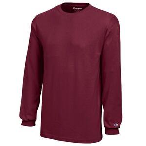 Champion Youth (Garnet) Long Sleeve Basic Cotton T-Shirt Youth (XS-XL)