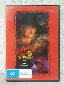 Nightmare on Elm Street 5 Five - The Dream Child DVD - 1989 Freddy Kruger