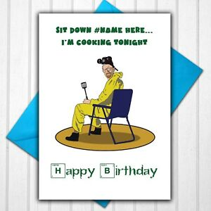 Breaking Bad Walter White Personalised Birthday Card Any Name or Relative