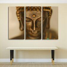Copper Buddha Statue Religion 3 pcs HD Art Poster Wall Home Decor Canvas Print