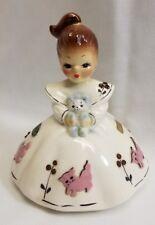 Josef Originals California Mindy Figurine w Cats Kittens Stickers Rare Pre 1960