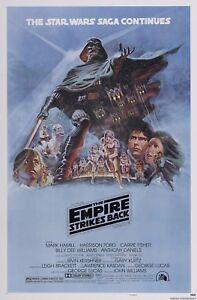 Star Wars The Empire Strikes Back 1980 Movie Poster Canvas Wall Art Print Sc-Fi