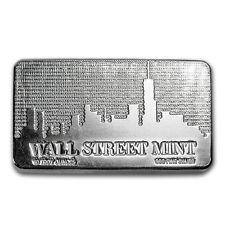 10 oz Silver Bar - Wall Street Mint®