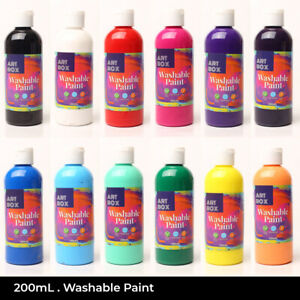 Kids Washable Paint Set or Singles Poster Craft 200mL Bottles Non-Toxic