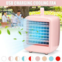 Home Office Mini Air Cooler Cooling Fan Table Desk Conditioner Humidifier  A*