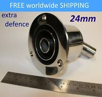 Triple stainless steel thru hull / exhaust fitting 24 mm to Webasto Eberspacher