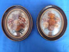 2 tableaux fleurs séchées vintage pour décoration