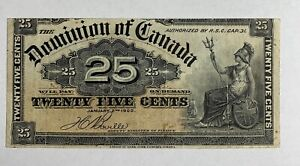 Canada Banknotes Dominion of Canada 25 Cents July 2 1923 P9b (Shinplaster)