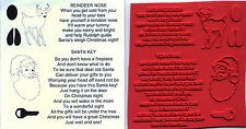 unmounted rubber stamps   Santa Key and Reindeer poem  7 images