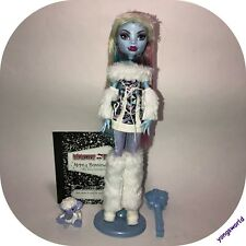 Monster High Abbey Bominable First Wave Doll & Outfit Pet Purse Diary Lot