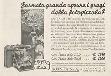 Z1253 ZEISS IKON Super Ikonta 6 x 6 - Pubblicità d'epoca - 1936 Old advertising