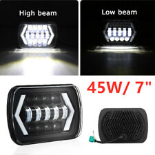 12~48V DC 6000K 45W LED Projector Headlight Lamp Hi-Lo Beam Halo IP67 Waterproof