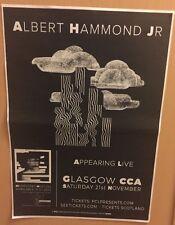 Albert Hammond Jr - Rare Concert / Gig poster, Glasgow - Nov 2015 (the Strokes)