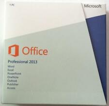 Microsoft Office 2013 Professional retail full version 2 PCs Box DVD