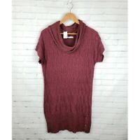 Maurices XL Maroon Knit Sweater Dress Cowl Neck NWT