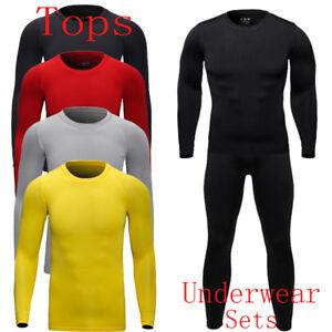 Winter Mens Underwear Base Layers Thermal Fleece Keep Warm Working Outside