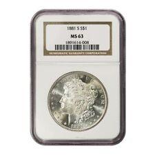 USA Morgan Dollar $1 1881S NGC MS 63
