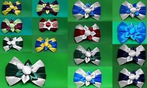 Child's kids accessories hair clips bows bobbles girls school ribbons