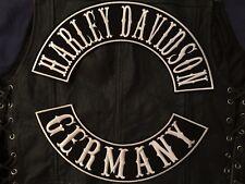 Harley Davidson Germany back Patch Set Banner Biker sotana mc rocker Patch Chopper