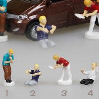 1:64 Race Medal Figure Street People Scenario Model Set For Matchbox Tomy