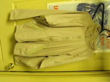 Used Good Shape Sand Colored Fleese Zippered Jacket, No Hood size medium