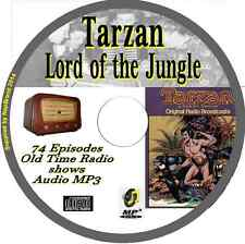 Tarzan Lord of the Jungle  74 OTR Old Time Radio Episodes Audio MP3 on CD
