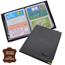 Porte cartes de visite professionnelle  - 32 cartes - couverture croute de cuir