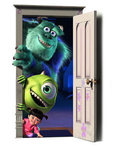 Monsters Inc Mike Sully V2 Wall Vinyl Adhesive Sticker Decal Print Multi Sizes**