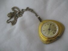 Endura Gold Toned Wind-Up Necklace Watch