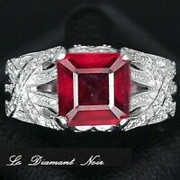 LDN_Bague Rubis Rouge 3.93ct Saphirs_Argent 925_T56_val.189€